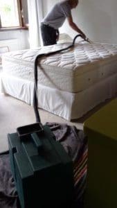 Reiniging van matras